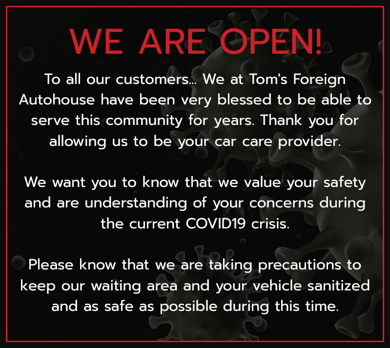 Toms Foreign Autohouse :: Temecula CA Mechanic & Auto